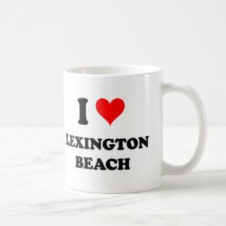Amo la playa Michigan de Lexington Taza Básica Blanca