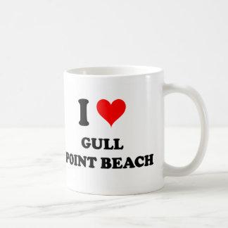 Amo la playa Michigan del punto de la gaviota Tazas