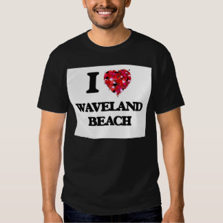 Amo la playa Mississippi de Waveland Playeras