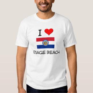 Amo la playa Missouri de Osage Camisas