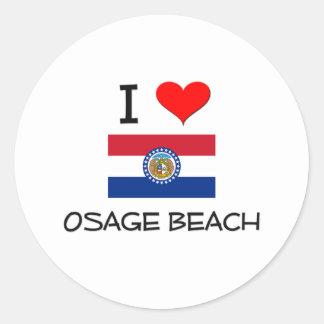 Amo la playa Missouri de Osage Pegatina