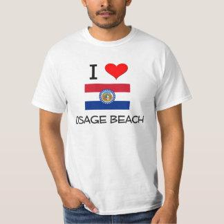 Amo la playa Missouri de Osage Playeras