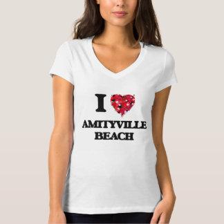 Amo la playa Nueva York de Amityville Playera