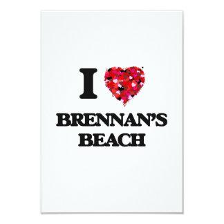 """Amo la playa Nueva York de Brennan Invitación 3.5"""" X 5"""""""