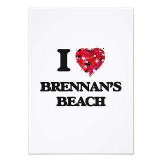 """Amo la playa Nueva York de Brennan Invitación 5"""" X 7"""""""