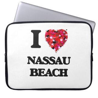 Amo la playa Nueva York de Nassau Manga Portátil