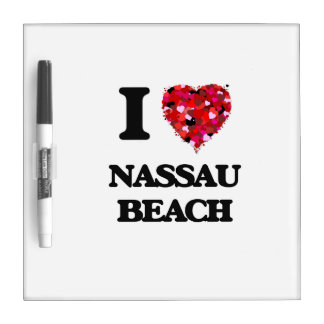 Amo la playa Nueva York de Nassau Pizarras Blancas