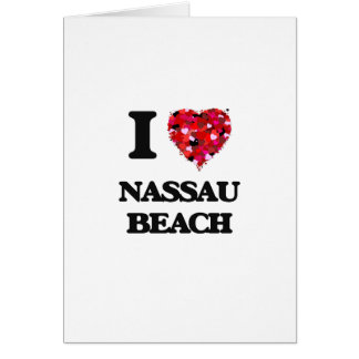 Amo la playa Nueva York de Nassau Tarjeta De Felicitación