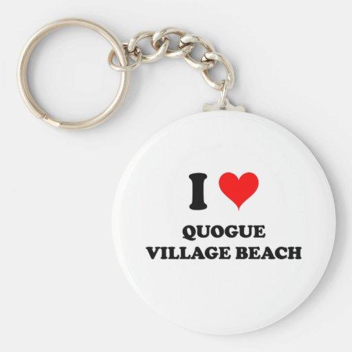 Amo la playa Nueva York del pueblo de Quogue Llavero