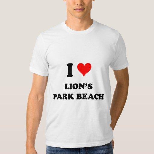 Amo la playa Ohio del parque de los leones Playeras