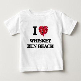 Amo la playa Oregon del funcionamiento del whisky Playeras