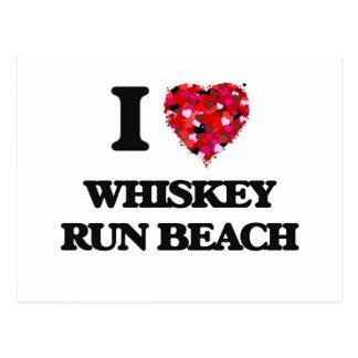 Amo la playa Oregon del funcionamiento del whisky Tarjetas Postales