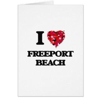 Amo la playa Pennsylvania del puerto franco Tarjeta De Felicitación