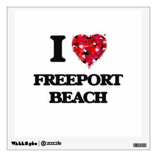 Amo la playa Pennsylvania del puerto franco Vinilo