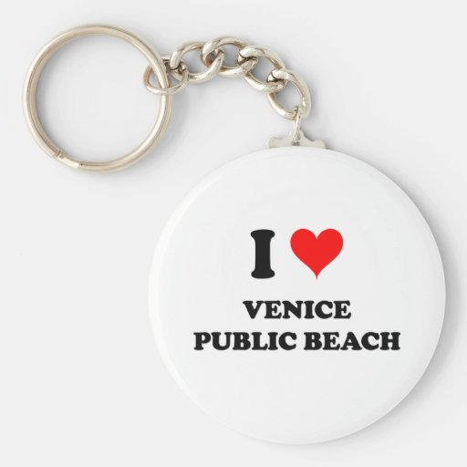 Amo la playa pública la Florida de Venecia Llaveros