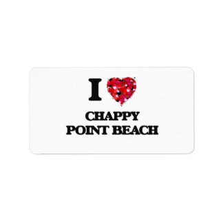 Amo la playa rajada Massachusetts del punto Etiqueta De Dirección