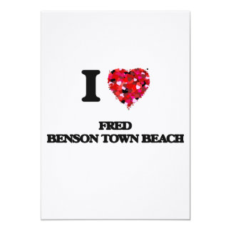 """Amo la playa Rhode Island de la ciudad de Fred Invitación 5"""" X 7"""""""