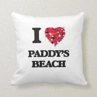Amo la playa Rhode Island de los arroces Cojín