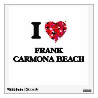 Amo la playa Tejas de Frank Carmona Vinilo Adhesivo