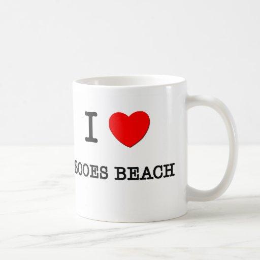 Amo la playa Washington de Sooes Taza Básica Blanca