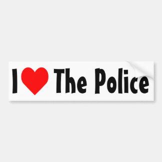 Amo la policía pegatina de parachoque