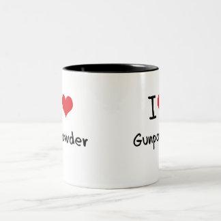 Amo la pólvora taza