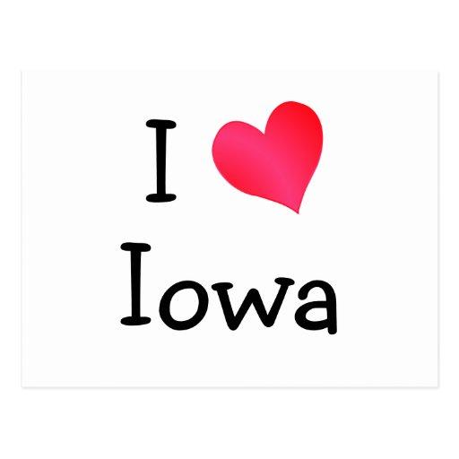 Amo la postal de Iowa