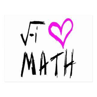 Amo la postal de la matemáticas