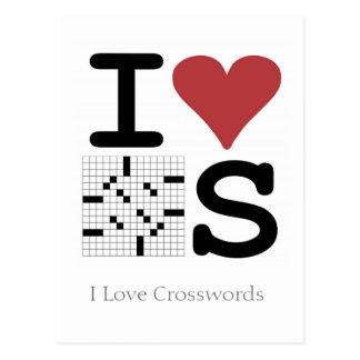 Amo la postal de los crucigramas