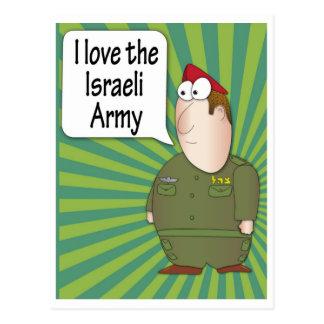 Amo la postal del ejército israelí - soldado israe