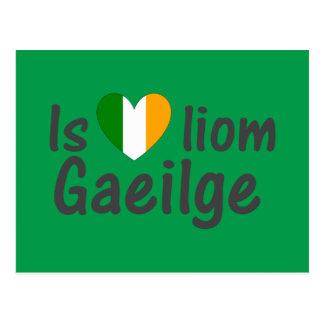 Amo la postal del gaélico de Gaeilge del irlandés
