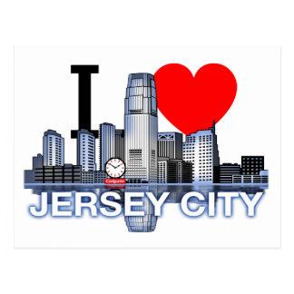 Amo la postal del horizonte de Jersey City
