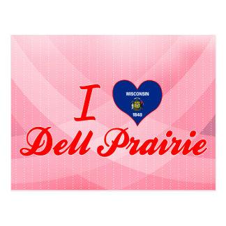 Amo la pradera de Dell, Wisconsin Postales