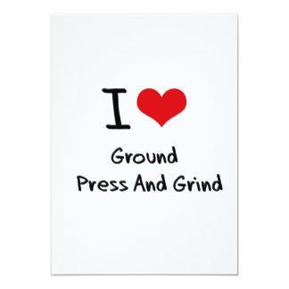 Amo la prensa   y la rutina de la tierra invitación 12,7 x 17,8 cm