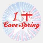 Amo la primavera de la cueva, Georgia Etiqueta Redonda