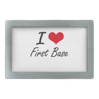 Amo la primera base hebilla de cinturon rectangular