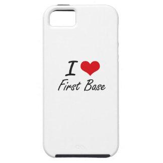 Amo la primera base iPhone 5 funda