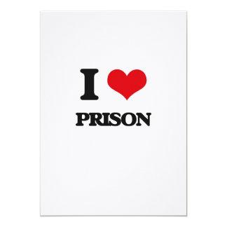 Amo la prisión invitación 12,7 x 17,8 cm