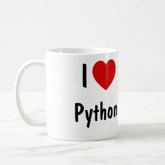 Amo la programación del pitón taza de café