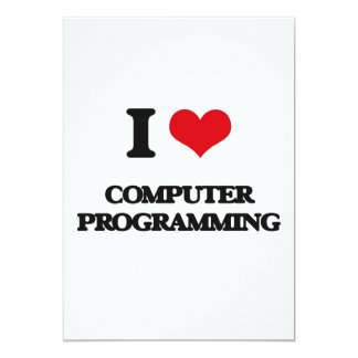 Amo la programación informática comunicado personalizado
