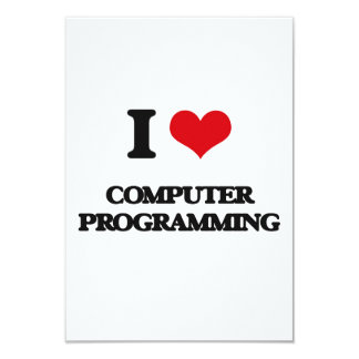 Amo la programación informática invitaciones personalizada