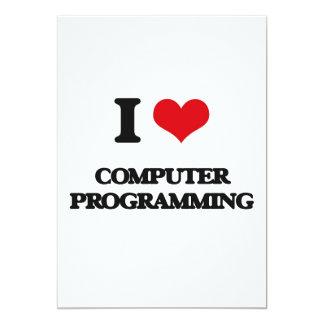 """Amo la programación informática invitación 5"""" x 7"""""""