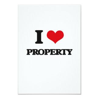 """Amo la propiedad invitación 3.5"""" x 5"""""""