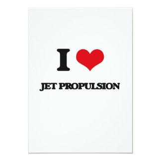 Amo la propulsión a chorro invitación 12,7 x 17,8 cm