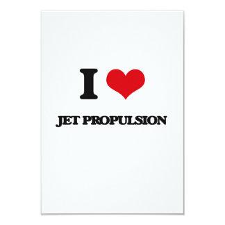 Amo la propulsión a chorro invitación 8,9 x 12,7 cm