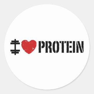 Amo la proteína etiqueta redonda