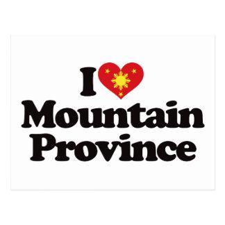 Amo la provincia de la montaña tarjetas postales