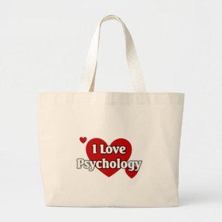 Amo la psicología bolsas de mano