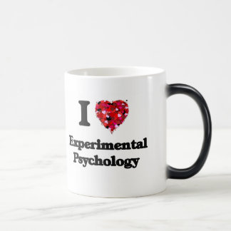 Amo la psicología experimental taza mágica