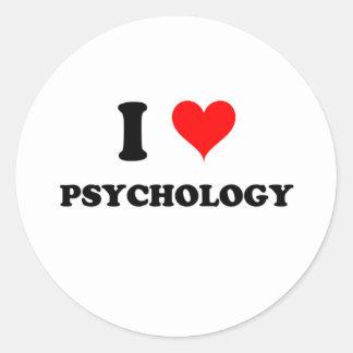 Amo la psicología pegatinas redondas